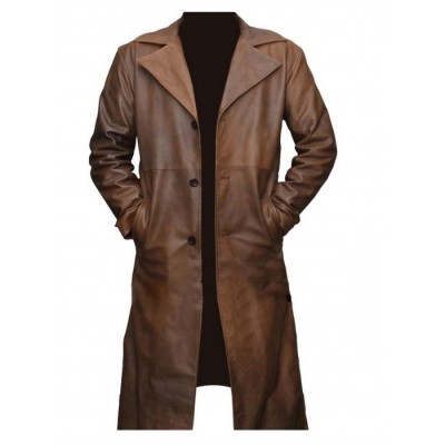 Fashionable Batman Knightmare Leather Trench Coat
