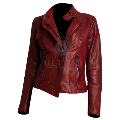 Andrew Marc Wynter Asymmetrical Motorcycle Leather Jacket