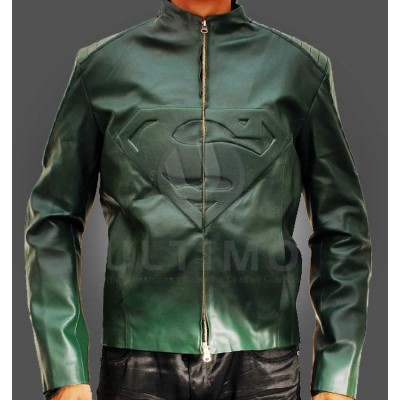 Superman Smallville Green Faux Leather Jacket